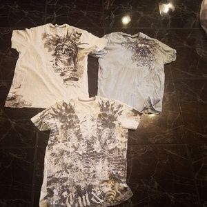 Lot of 3 Marc Ecko T-shirts 2 Med- 1 small